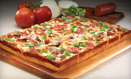 Large or 8 Corner Pizza with Breadsticks and Dipping Sauce from Jet's Pizza (Up to 52% Off)