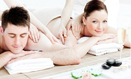 $85 for One 60-Minute Couples Massages with Wine at Healing Hands Massage & Wellness ($160 Value)