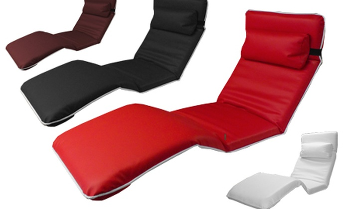 Calasca:  Faux Leather Adjustable Lounge Sofa Bed for R1 199.99 Including Delivery (52% Off)