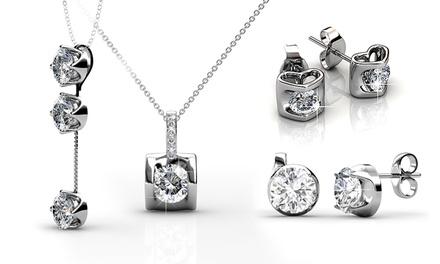Brincos ou colar com pendente com Swarovski Zirconia desde 15,99€ ou conjunto desde 26,99€