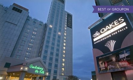 1-Night Stay for Two w/ Wine Tours, Food & Casino Credits at The Oakes Hotel Overlooking the Falls in Niagara Falls, ON