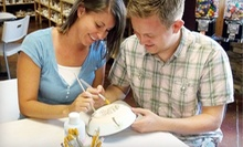 $25 for $50 Worth of Drop-In Paint-Your-Own Pottery and Glass-Fusing or a Paint-Your-Own Pottery Party