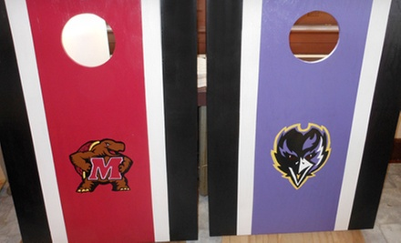 $135 for a Custom Tailgater Cornhole Set or $50 for $100 Toward Custom Woodworking at Davis Family Creations