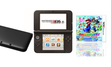 Nintendo 3DS XL Bundle with Game System (Manufacturer Refurbished) and Mario Party: Island Tour