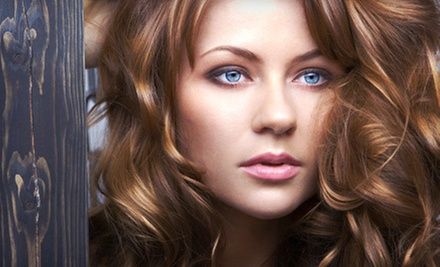 Haircut, Blow-Dry, and Style with Optional Partial Highlights or a Color Retouch at Stiles Salon (Up to 51% Off)