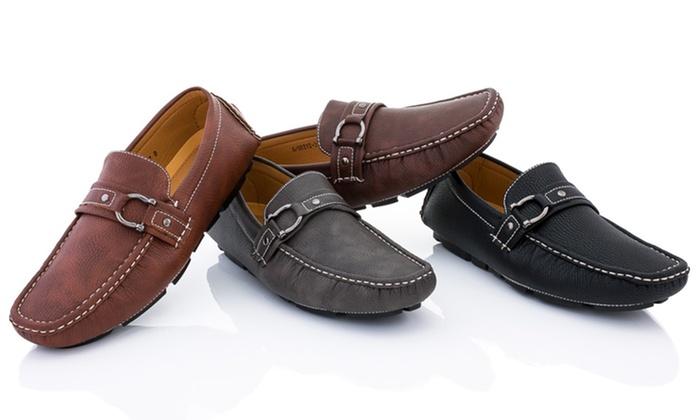 Franco Vanucci Men's Driving Moccasin Shoes . Multiple Colors