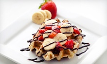 Belgian Waffles and Lattes for Two, or $10 for $20 Worth of Waffles and Belgian Chocolates at Leonidas Café Chocolaterie