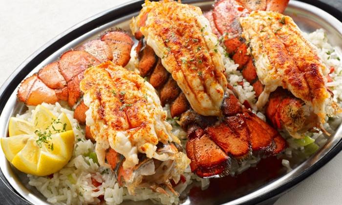 Upscale seafood dinner detroit seafood market groupon for Detroit fish market