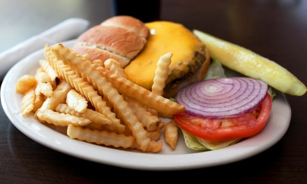 Burger Meals and Draft Beers for Two or Four Scoreboard Bar & Grill (Up to 48% Off)