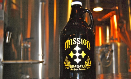 $25 for a Gold-Embossed Growler with 2 Fills & Club Membership at Mission Brewery (Up to $58 Value)