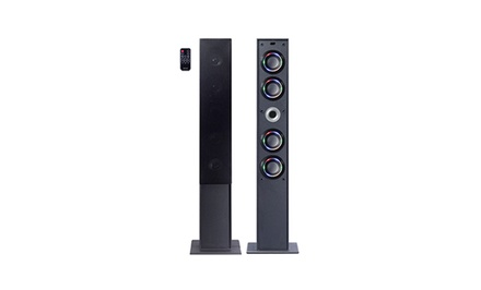 groupon daily deal - Bluetooth Tower Speaker System. Free Returns.