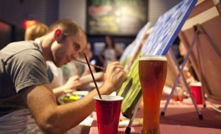$22 for an In-Pub Painting Party from Paint Nite ($45 Value)