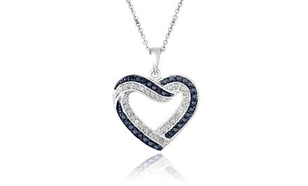 1/2 CTTW Blue & White Diamond Pendant