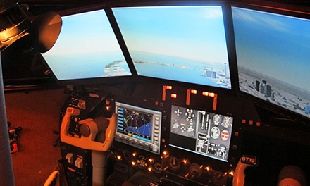 Hour in Flight Simulator for One, Two or Four at Flight Master (Up to 76% Off)