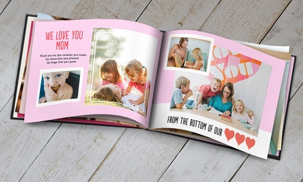 groupon daily deal - 5x7, 8x11, or 12x12 Custom Photo Book from Snapfish (Up to 60% Off)