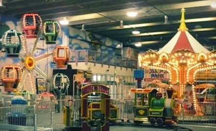One Day of Unlimited Indoor Kids' Amusement Rides with Optional LED Wand or Lightsaber at Lollipop Park (Up to 53% Off)