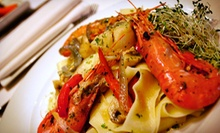 Three-Course Italian Dinner for Two at La Risata Ristorante (Up to 56% Off). Two Options Available.