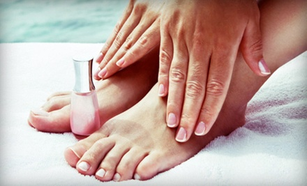 Mani-Pedi with Optional Facial, or Spa Package with Mani-Pedi, Facial, and Wax at SkinScience Institute (Up to 58% Off)