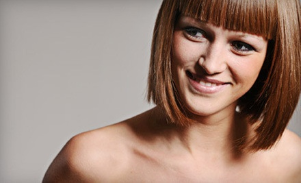 Haircut and Deep Conditioning or Haircut, Deep Conditioning, and Partial Foil at Shear Elegance (Up to 61% Off)