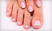 One or Two Spa Mani-Pedis at J's Nail & Spa at Earl's For Hair (Up to 55% Off)