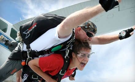 $99 for a Tandem Skydive over Smoky Mountains from Skydive East Tennessee ($224 Value)