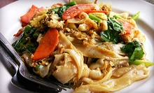 Thai Dinner Cuisine at Thai Lagoon Bistro (Half Off). Two Options Available. 