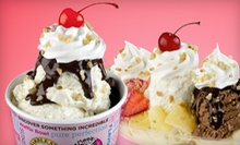 Two Medium Ice-Cream Cones with Mixins or One Small Ice-Cream Cake at Marble Slab (52% Off)