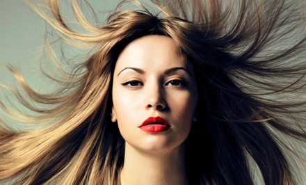 Haircut Package with Blow-Dry or Full Color or Partial Highlights at Repose Salon & Spa (Up to 50% Off)