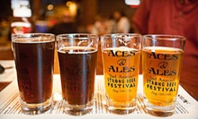 Gourmet Pub Food and Drinks at Aces & Ales (Up to 57% Off). Four Options Available.