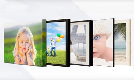 Full-Bleed or Bordered Photo Wooden Mount or Three- or Four-Piece Canvas Set from iCreate On Demand (Up to 78% Off)