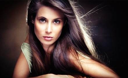 Haircut and Style with Optional Highlights, or Keratin Hair-Smoothing Treatment at Blush Body Bar (Up to 71% Off)