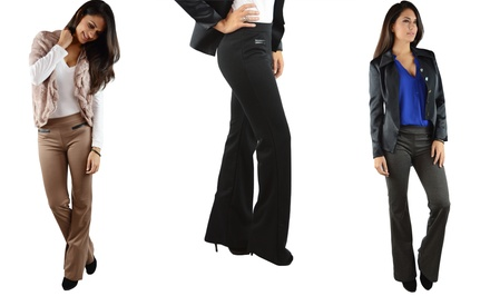 Womens Boot Cut Pull-On Pants