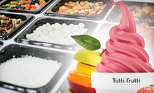 $5 for $10 Worth of Frozen Yogurt at Tutti Frutti Frozen Yogurt