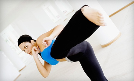 5 or 10 Kickboxing Classes with One Private Session at Perfect Balance Fitness & Martial Arts Training (Up to 84% Off)