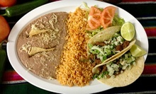 Mexican Cuisine at Pepe's Taqueria (Half Off). Two Options Available. 