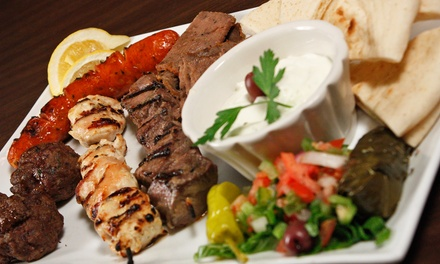 Greek Food at Ammos Authentic Greek Cuisine (50% Off). Two Options Available.