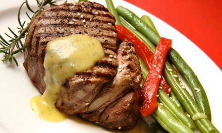 Steak, Seafood, and American Food for Two or Four at Four Seasons Restaurant & Conference Center (45% Off)