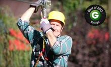 $44 for a 10-Leg Zipline Tour at Kersey Valley Zip Line ($89 Value)