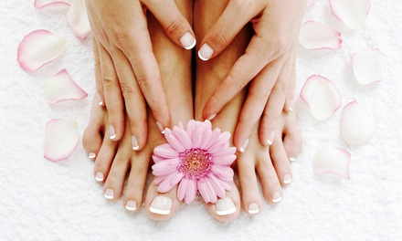 One or Two Groupons, Each Good for a Sea Spa Manicure and Hot Spa Pedicure at Splash Salon & Spa (Up to 58% Off)