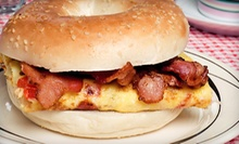 Three Breakfast Sandwiches and Large Coffees or One or Two Dozen Bagels with Spreads at Bagel Schmagel (Up to $64% Off)