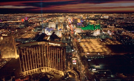 Helicopter Tour of the Strip for Up to 3 or Tour for Up to 3 with Magic Show from 702 Helicopters (Up to 71% Off)