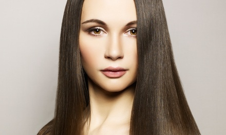 Keratin or Haircut with Conditioning and Optional Highlights at Bocaj Beauty by Jacob Leatherman (Up to 68% Off)