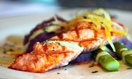 Global Bistro Cuisine and Drinks for Lunch or Dinner at Cachet Restaurant and Bar (50% Off)