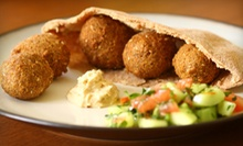 Mediterranean Cuisine at Salma Farah's Mediterranean Restaurant (Half Off). Two Options Available.