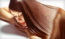 Women's Haircut, Keratin Blowout, or Both at FM Hair Studio (Up to 65% Off)