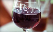 Wine Tasting for Two or Four with Appetizer and Commemorative Wineglasses at Seven Springs Winery (Up to 52% Off)