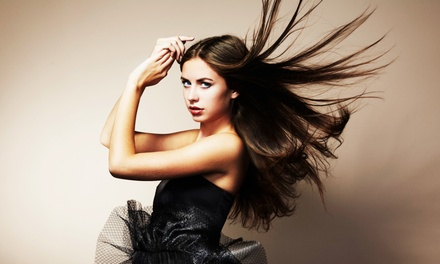 Haircut and Style with Optional All-Over Color, Full Highlights, or Brazilian Blowout at Phoenix Salon (Up to 61% Off)