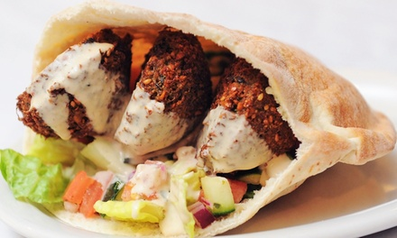 Middle Eastern Food for Dine-In, Carryout or Delivery at King Falafel (Up to 44% Off). Three Options Available.
