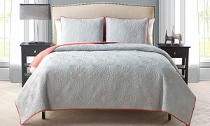 Gala Embroidered 3-piece Quilt Set