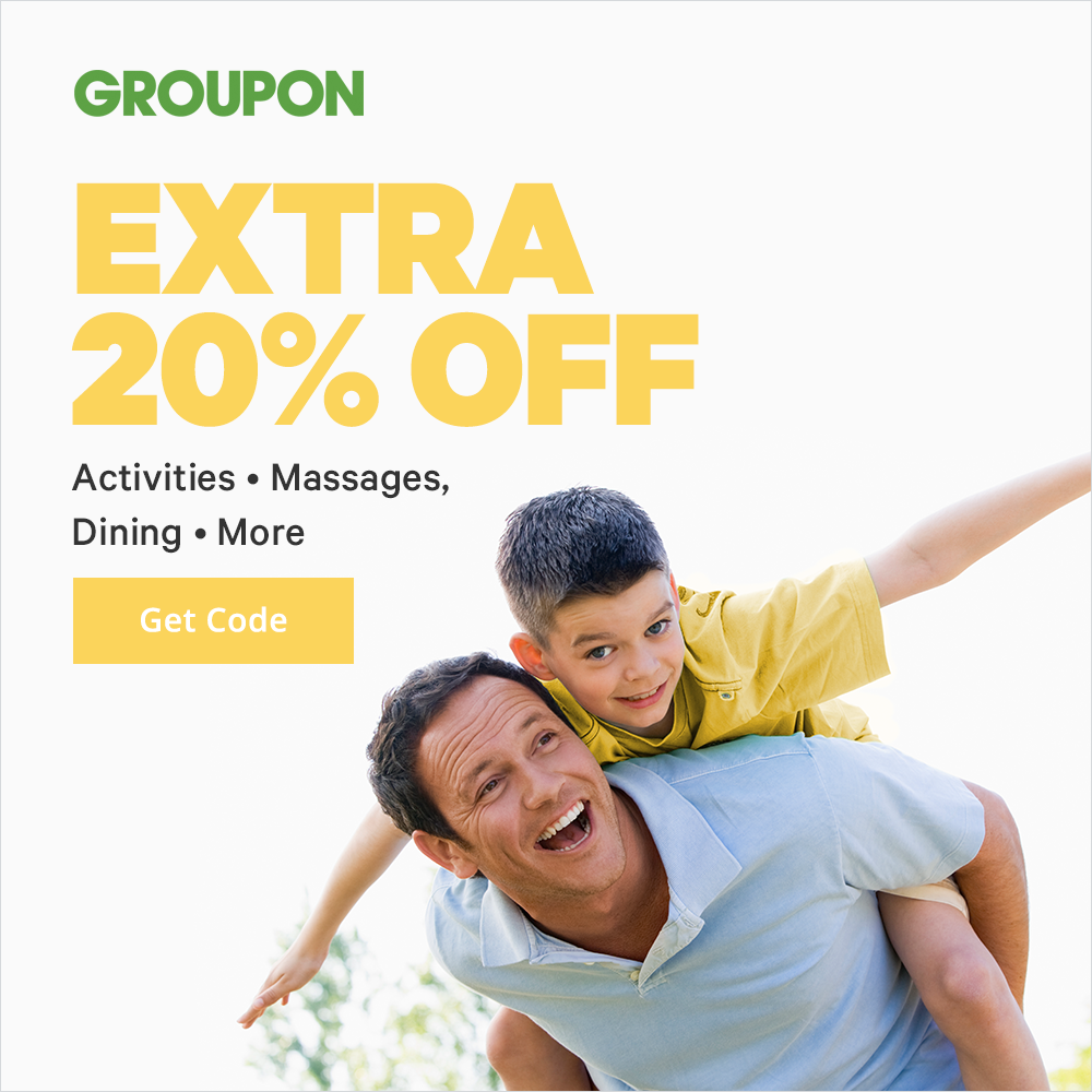 6/14 - 6/16 Offer: Extra 20% Off Activities, Massages, Dining & More; Promo code: SAVE